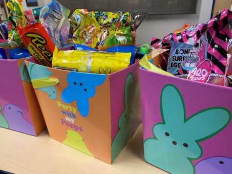 Students Surprised with Easter Baskets Before Leaving for Spring Break